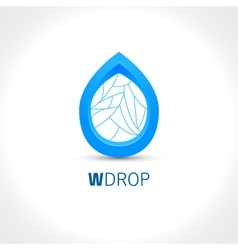 Blue Water drop abstract icon design template vector image