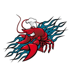 red prawn vector image