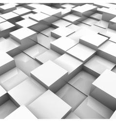 White brick wall with random height bricks vector image vector image