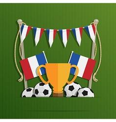 france football decoration vector image