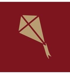 The kite icon Kite symbol Flat vector image