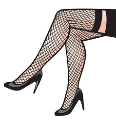 Womans leg in stockings vector image vector image