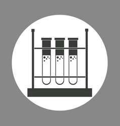laboratory test tube rack chemistry dark design vector image