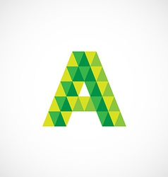 Letter A logo template Green and yellow triangle vector image vector image