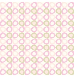 seamles pattern with pink and olive ovals vector image vector image