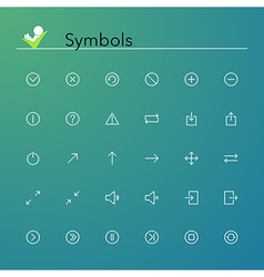 Symbols Line Icons vector image vector image