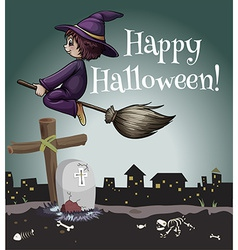 A happy halloween poster vector image
