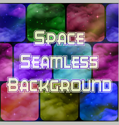 Abstract space tile background vector