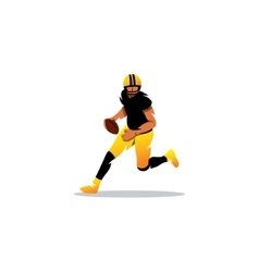 American football sign A player running with the vector image vector image