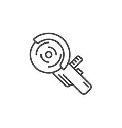 Angle grinder concept minimal icon vector