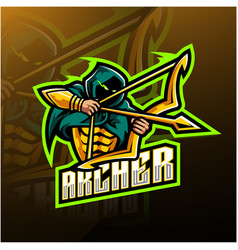 Archer esport mascot logo design vector