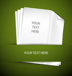 Backround with papers and place for your content vector