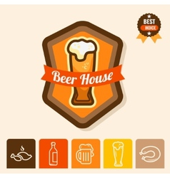 Beer house logo vector