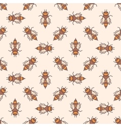 Bees seamless pattern vector