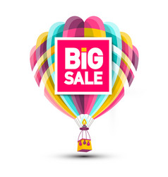 big sale hot air balloon icon vector image