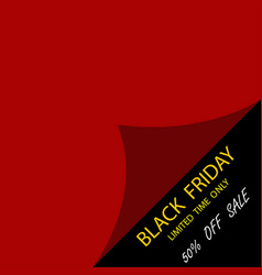black friday sale template to day black friday vector image