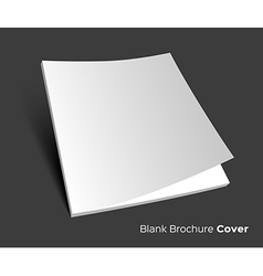 Blank brochure cover on dark vector