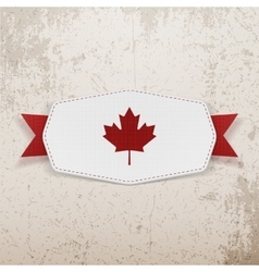 Canada flag symbol realistic badge vector