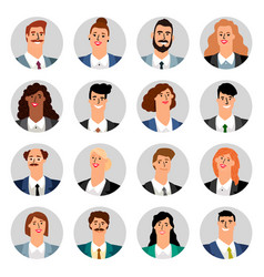 cartoon business avatars vector image