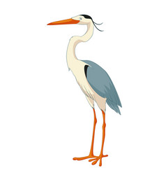 cartoon smiling heron vector image