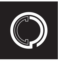 cc logo with circle rounded negative space design vector image