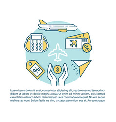 Cheap flight article page template airline last vector