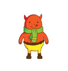 cheerful cartoon fox character wearing scarf an vector image vector image