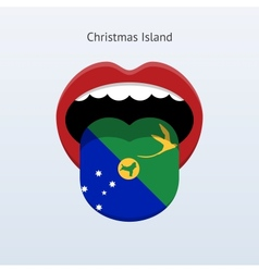 Christmas Island language Abstract human tongue vector