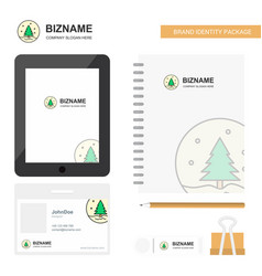 christmas tree business logo tab app diary pvc vector image