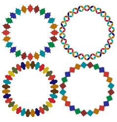 Circular moroccan tile frames graphics vector