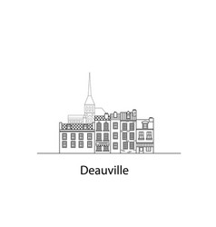 Cities of normandy deauville european houses vector