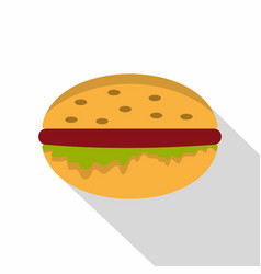 classic burger icon flat style vector image