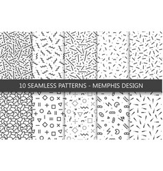 Collection of swatches memphis patterns - seamless vector