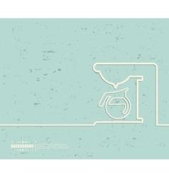 Creative coffee maker Art vector