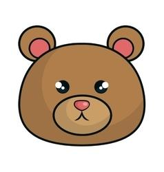 Cute bear animal kawaii style vector