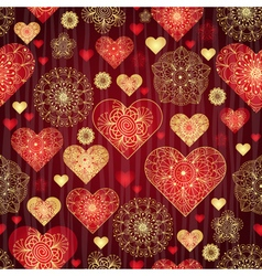 Dark red valentine pattern vector image