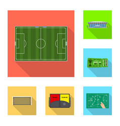 Design of soccer and gear logo collection vector