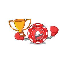 Fantastic boxing winner gambling chips in vector