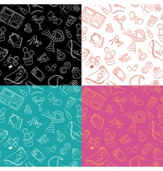 Female things pattern vector image vector image