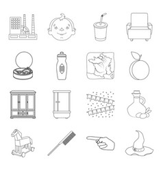 fitness plumbing history and other web icon in vector image