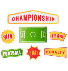 football championship logo set soccer team vector image