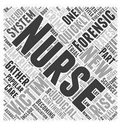 Forensic Nursing The New Breed Of Nurses Word vector