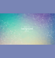 geometric blue and purple polygonal background vector image