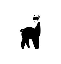 hand drawn llama vector image