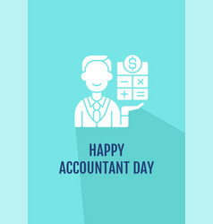 Happy chartered accountant day greeting card vector