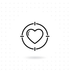 heart target line icon vector image