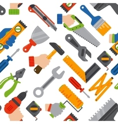 Home construction tools seamless pattern vector image