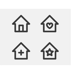 home icon simple house symbol homepage sign vector image