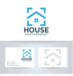 Home photography logo design vector