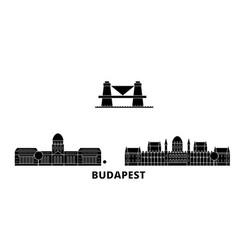 Hungary budapest flat travel skyline set hungary vector